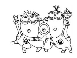Coloring Pages Minion Christmas Printable Page Bob To Print