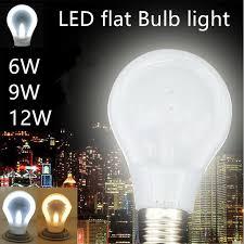 e27 led bulb led flat bulb light 2016 new arrive 220v 6w 9w 12w