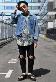 Vintage Grunge Style Cropped Denim Jacket