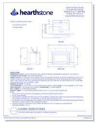 CAD Drawings HearthStone Stoves Cast Iron Soapstone Stove Inserts Clydesdale Model 8491
