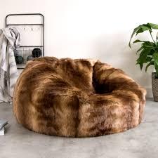 ICONTM Faux Fur Bean Bag Brown Bear