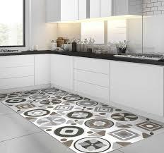 küchenfliesen grauer vinyl teppich
