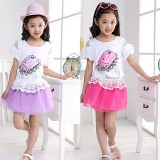 Retail 1 Set Hot Sale 2014 Children Summer Clothing Teenage Girls Fashion T Shirt Skirt Suit Print Ring Kids Clothes In Sets From Mother