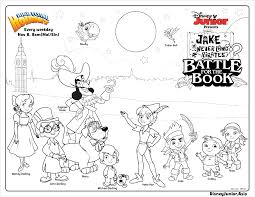 Disney Jr Halloween Coloring Pages by Jake And The Never Land Pirates Battle For The Book Colouring Page