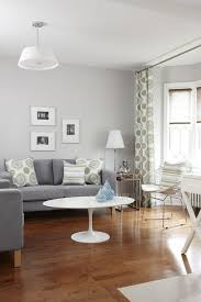 light gray walls living room transitional with wood floor nesting