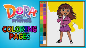 Dora And Friends Coloring Pages For Kids Colouring Games Part 1
