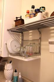 Kitchen Nice Hanging Dish Drying Rack For Small Kitchen Diy Wall