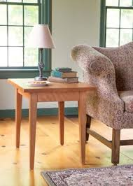 new england shaker tapered leg sofa table living room furniture