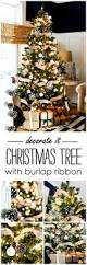 Pine Cone Christmas Tree Decorations by Christmas Tree With Burlap Ribbon U0026 Pine Cones It All Started
