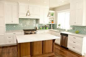 glass subway tile backsplash gray view green kitchen ideas white