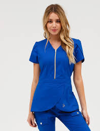 Ceil Blue Scrub Sets by The Tulip Top Royal Blue Medical Scrubs Lab Coats And Royal Blue