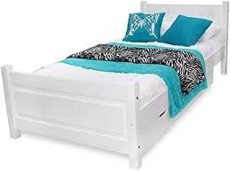 123home24 bett schlafzimmer holzbett 100x200 weiß