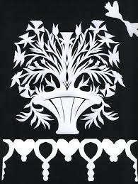 Flowers In Vase Design From Folk Art Designs