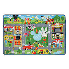 Disney Mickey Mouse Game Rug w Toy