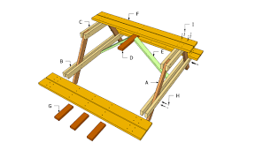 Building Plans For Hexagon Picnic Table by Picnic Table Plans