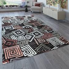 kurzflor teppich wohnzimmer karo muster 3 d design