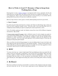 How To Write A Excellent Resume by How To Write A Strong Resume Write A Cv Exles Exles Of