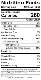 Coffee Folgers Nutrition Facts Me