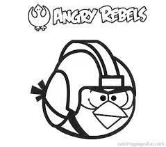 Printable Angry Birds Rebels Coloring Pages For Kids