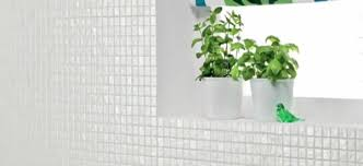 modern interiors with mosaic tiles creating color mood with wall