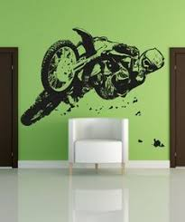 motocross trick vinyl wall decal lettering saying stickers