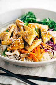 comment cuisiner le tofu healthy teriyaki tofu bowl with cauliflower rice gavin