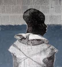 White Collar Black Man 2014 40 X Cm Chine Colle