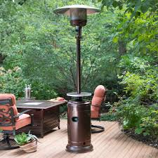 Pyramid Patio Heater Cover by Red Ember Hammered Bronze Commercial Patio Heater With Table
