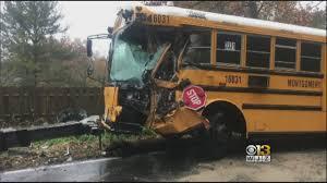 100 Dump Truck Crash 9 Hospitalized In School Bus With Near DC CBS