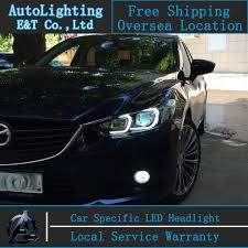 car styling new for mazda 6 led headlights 2014 2015 led mazda6