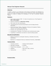 Database Test Engineer Sample Resume Software Testing Samples 2 Years Experience Unique