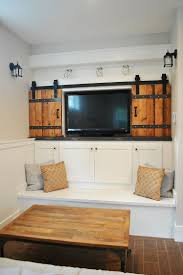 25 Ingenious Living Rooms That Showcase The Beauty Of Sliding Barn ... Attractive Double Track Barn Door Hdware Interior Sliding Doors Horse With Bi Parting John Robinson House Decor Closet The Home Depot Best 25 Barn Doors Ideas On Pinterest Saves Up Space In How To Make Bitdigest Design Diy Christinas Adventures Double Sliding Door Hdware Kit Thrghout Why Can Even Be Flush With
