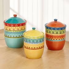 Ceramic Kitchen Canister Sets Valencia Colorful Ceramic Kitchen Canister Set