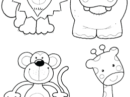 Animal Coloring Pages For Preschoolers Free Zoo