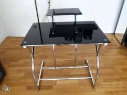 bureau ordinateur en verre bureau ordinateur en verre table lit a roultes pour bureau en bureau
