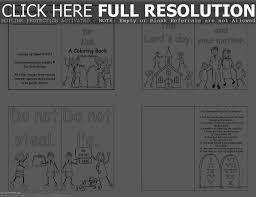 Adult Printable Ten Commandments Coloring Pages