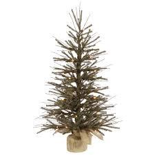 2 Foot Vienna Twig Artificial Christmas Tree 35 DuraLit LED M5 Italian Warm White Mini Lights
