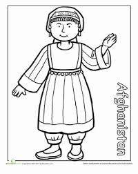 Preschool Holidays Seasons Worksheets Multicultural Coloring Afghanistan