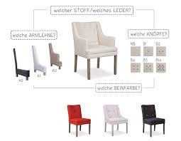 stuhl esszimmer polsterstuhl wählbar mit knöpfen weiß sofa massivholz bei möbelhaus hamburg