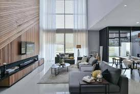 100 Residence Curtains Wils 11 Living Room With A Double Volume Wood Wall