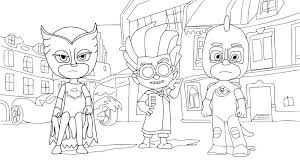 Pj Masks Coloring Pages Black And White Best Of Owlette Page