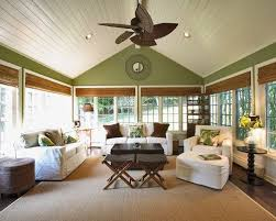 Lots And Of Windows On My Porch Green Walls To Bring The Outside InPlantation Sunroom Tropical Family Room Love Accent Wall