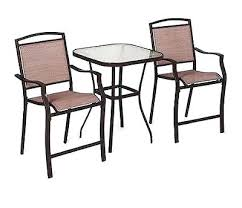 3 Piece Bar Height Patio Bistro Set by Camden 3 Piece Patio Bistro Set A Welcome To Costco Wholesale