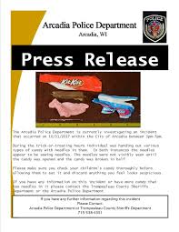 Tainted Halloween Candy 2013 by Police Investigating After Razor Blades Needles And Even Heroin
