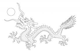 Chinese Culture Dragon From The Flag Of Qing Dynasty Coloring Page