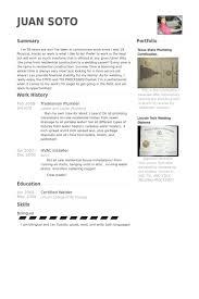 Tradesman Plumber Resume Samples Work Experience