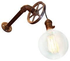 industrial wall sconces with an on switch houzz