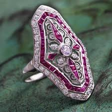 deco ruby and ring deauville deco ruby ring w6102 stauer