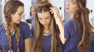 3 QUICK AND EASY BOHO HAIRSTYLES Cute Heatless Hairstyles