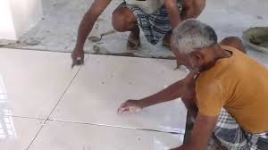 kajaria 800x800 tiles laying with spacer